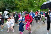 With some dressed in full rain gear, these kids ran 500m in the Cub Run at the Toronto Zoo Saturday.