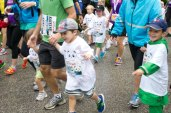 Children participating in the 500m Cub Run at the Toronto Zoo Saturday.