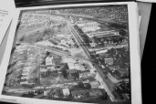 An old photo of the area at Warden and Danforth Avenues. The photo was taken from Scarborough's archives and shown at the event.
