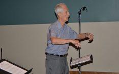 Conductor Stan Williams in full swing