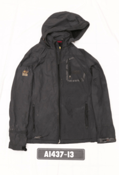 Point Zero black jacket worn by the unidentified deceased man.