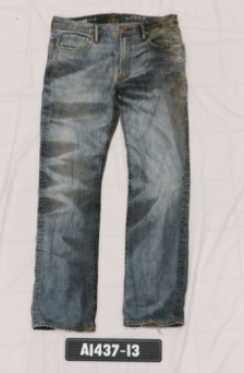 Gap jeans, sized 32 by 32, worn by the unidentified man found dead on Sept. 13 in the Markham Road and Finch Avenue area.