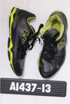 Under Armour shoes, size 9, worn by the unidentified deceased man found in Scarborough.