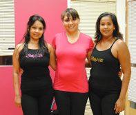 From left to right, Alima Bandali, Farzana Kanji and Sharon Junor, students at BollyFuze.