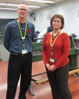 Dean Alan McClelland (Left) and Chairperson Traci K. Brittain (Right) at the school of Transportation.
