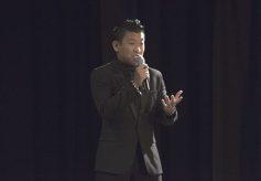Former Canadian Got Talent's Ken de los Santos sings during the Martha Joy Concert.