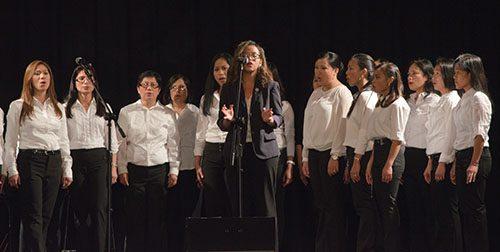 The Lady of Assumption Catholic Parish choir performs during the Martha Joy Concert.