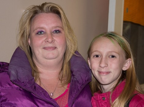 Tara Terry and her daughter, 12-year-old Madison, of 92 Alyesworth Ave. Tara called the current traffic situation a 'nightmare' and wants a traffic survey completed.