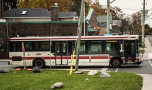 Cliffside 20 bus about to round the corner at Birchmount Avenue and Highview Road.
