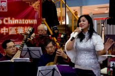 The Qi Le She Orchestra perform traditional Chinese songs at Dragon City Mall before a later performance at Chinatown Centre. The eight-piece band practice at Long Gang Gong She, a community centre in the Spadina and Dundas area.
