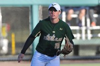 Kourtney Salvarola hit .338 and played strong shortstop for the USF Bulls this season. Photo: USF