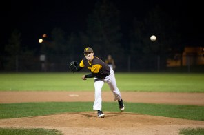 Nate Penrose pitched a shutout against the Burlington Beers on Thursday night, striking out ten in the process.