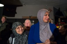 Malik celebrates with family, friends and supporters