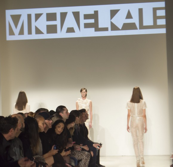 Model Walks Runway at MkhaelAll runway show at Toronto Fashion Week