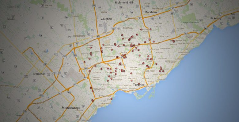map of Alzheimer's care in GTA