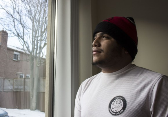 Andres Gil, 21, recently stayed at Kennedy House on Pape Avenue.