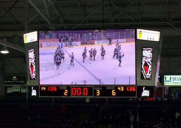The Brampton Beast fall to the Tulsa Oilers 6-2 on Tuesday Feb 17, 2015 at the Powerade Centre