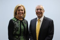 MPP Vic Fedeli endorsed leadership candidate MPP Christine Elliott at her campaign office in Toronto on Wednesday.