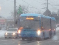 Viva bus in the Feb. 2 snowstorm.