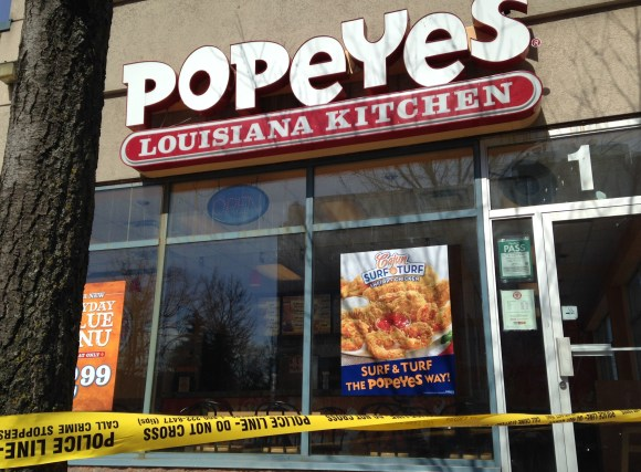 Suspect was arrested at Popeye's Chicken in the Thorncliffe Park Plaza