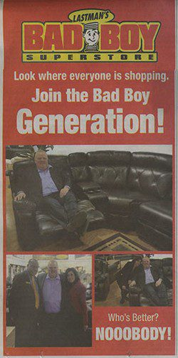 Rob Ford took a break while for shopping for furniture to pose for photos.