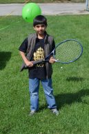 One of the children that patronizes the Thorncliffe Park Tennis Club.