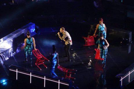 "Nick Jonas performing hit song ""Levels"""