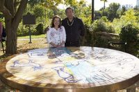 Rebecca Baird and Phil Cote of the Tecumseh Collective designed the Gathering of the Clans mosaic now on permanent display at Todmorden Mills.