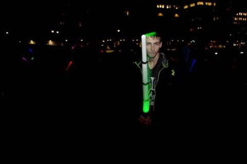 A Star Wars fan is ready to fight against the Sith