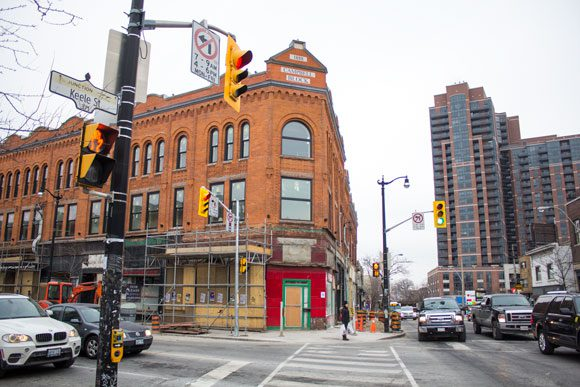 Renovations of older buildings and new condo developments in The Junction.