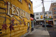 Mural at Jones Street and Queen Street East.