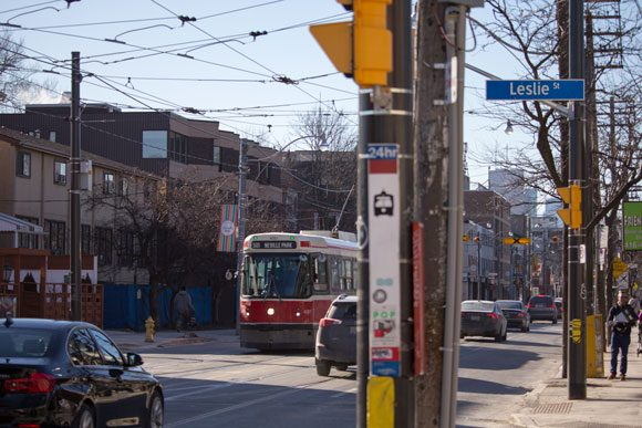 The streetcars serving Leslieville are old and nearly unusable for anybody with a physical disability, or parents with a baby carriage.