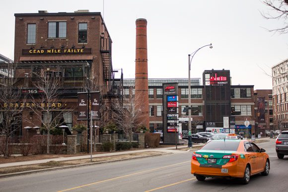 The Brazen Head, one of several bars and restaurants within a few minutes walk of each other in Liberty Village.