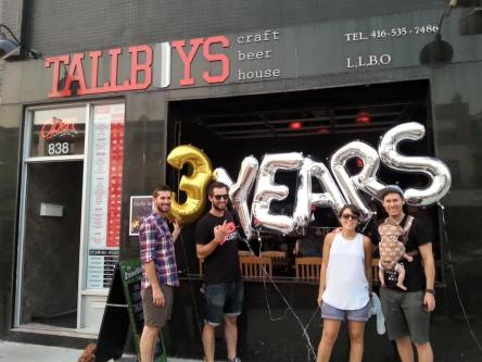 #5 Tallboys, 838 Bloor St. W. With over 70 craft beers exclusively from Toronto and right on Bloor Streetby Ozzinginton station. This is a relatively new bar, only three years old. It is the fourth-ranked bar on the Before Last Call blog.