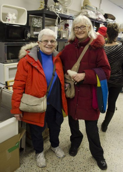 Jo Nelson and Grethe Jensen are sponsors that represented Upper Beaches Lifeline for Syria on January 30. Their group has been eagerly waiting on their family to arrive.