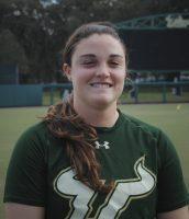 University of South Florida's Amber Donovan is looking to end her college softball career on a high note.