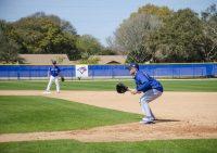 MVP Ryan McBroom working on his fielding during spring training