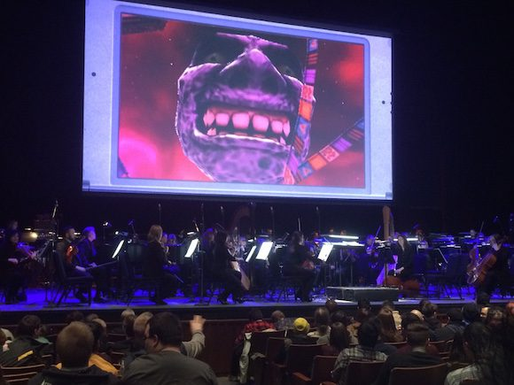 A 80 piece orchestra plays music from the Zelda game franchise before a sold out crowd at the Sony Centre for the Performing Arts on March 19.