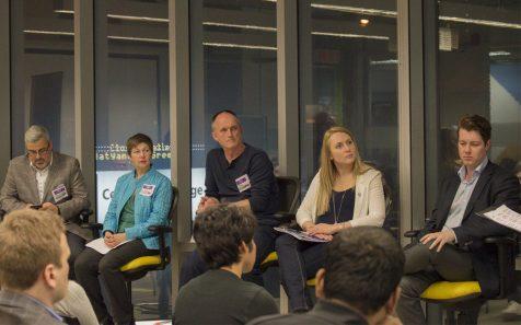 The expert panel (l-r): Sam Fiorella, Linda Weichel, Eric Dunn, Monika Mielnik and Evan Luke
