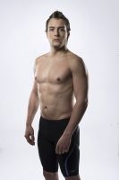Canadian Paralympic swimmer Isaac Bouckley poses in a Swim Canada photo shoot.