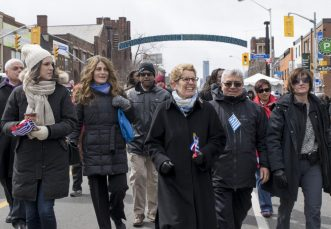 Ontario Premier Kathleen Wynne celebrates Greece's independence day with members of the community.