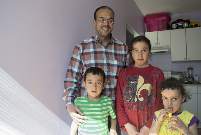 It was been three months since this family migrated to Canada through government sponsorship. Before coming to Canada, they lived in a refugee camp tent for three years.