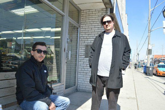 Mario Dhimojjni (left) loves the authentic souvlaki at Tzatziki, but James Knapp (right) prefers The Greek Grill
