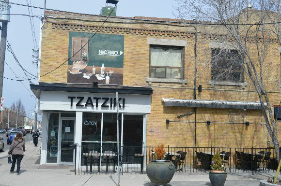 Tzatziki features a small patio for enjoying a Greek treat with the summer air