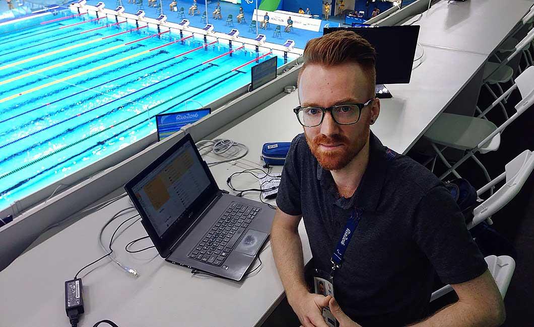 Ciarán Breen at the Aquatics Stadium in Rio