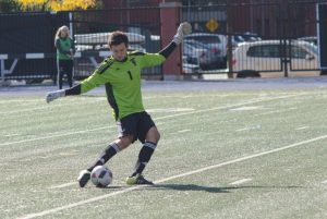Varsity Blues goalkeeper Mark Rogal has a league high eight clean sheets this season but saw four goals fly past him on Sunday.