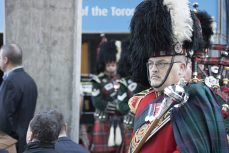 The 48th Highlanders of Canada Pipes and Drums were on hand to open the ceremony
