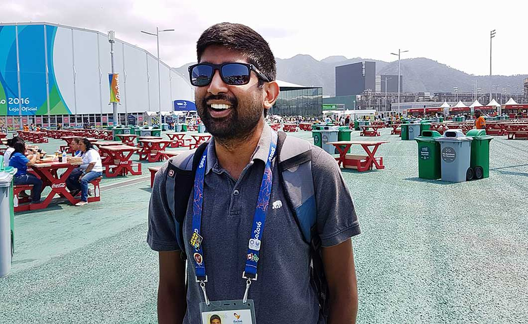 Shoaib Alli at Olympic Park in Rio
