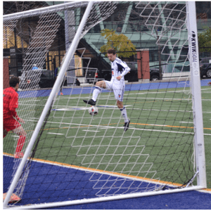 Colelli, right, spurned a glorious chance early in the second half to double his tally and settle Toronto nerves before Carleton equalized.