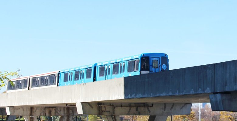 Train rolling into the Scarborough Centre Station. City council is supporting an express Scarborough Subway Extension.